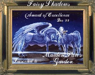 Award from Fairy Magic Starr