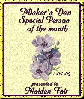 Misker's Den Special Person Award
